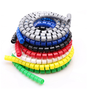 8mm 42mm Make The Wire Succinct Winding tube Sheath Spiral Range Cache Cable Cord Wire Organizer PC TV Winding Pipe