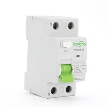 2P 63A RCCB RCD Safety Switch 10mA 30mA 100mA 300mA 6KA 110V 230V Residual Current Circuit Breaker Differential Breaker TORD4-63 цена 2017