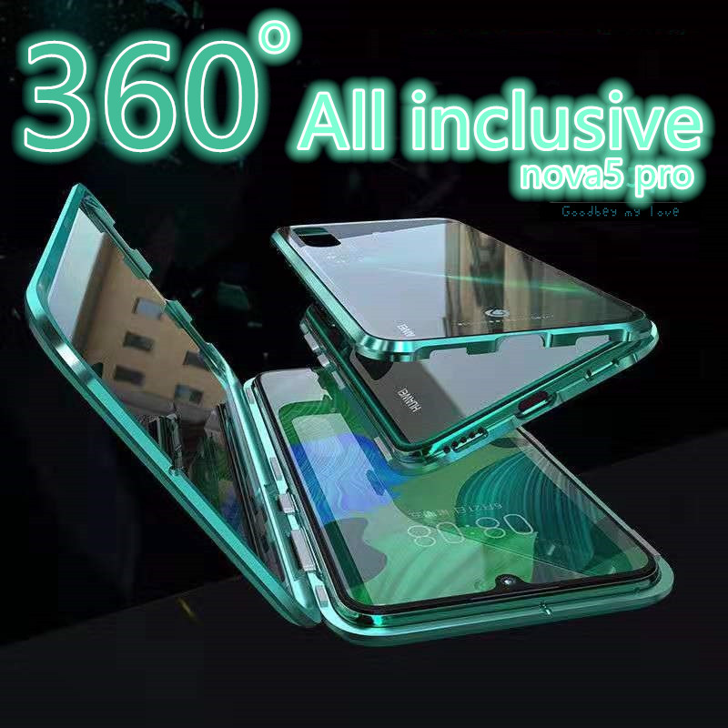 <font><b>360</b></font> Front+Back Double-sided 9H Tempered Glass <font><b>Case</b></font> For Huawei <font><b>P20</b></font> P30 Pro P30Lite Nova 5 5i 5pro honour 10 20 <font><b>Case</b></font> Magnetic Cas image