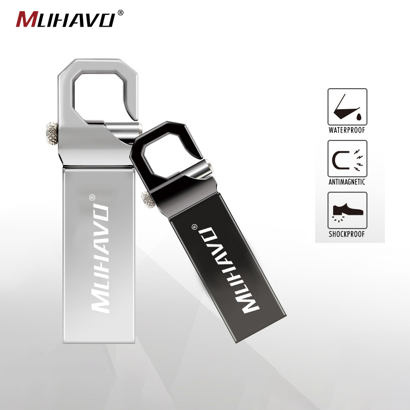 Metal Waterproof Usb Flash Drive 64GB 32GB Pen Drive 128GB 16GB Flash Drive 8GB Flash Memory Card Usb Stick Drive Pendrive