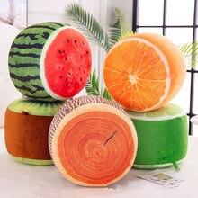 Надувной табурет с фруктами сидя киви пень арбуз Оранжевый Лайм Лимон креативное растение Подушка плюшевая детская игрушка подарок
