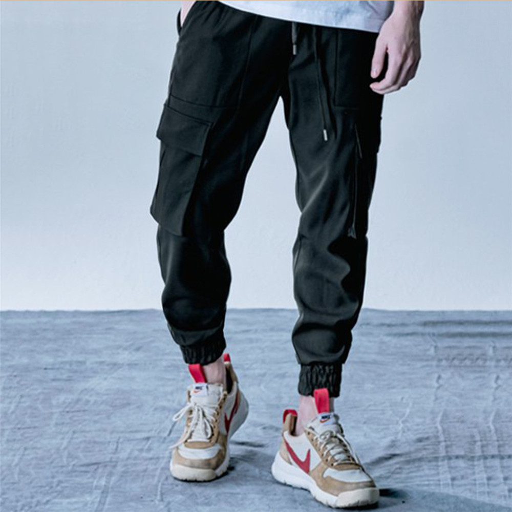 New Style Men's Cargo Pants Running Training Loose Long Pants Male Casual Jogger Sweatpants High Quality Solid Brand Trousers 5