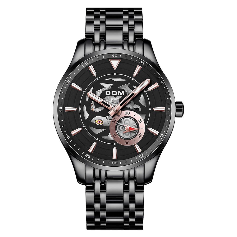 New Fashion Men Mechanical Watch Skeleton Design Top Brand Luxury Waterproof Gentleman Automatic Clock Montre M-1308