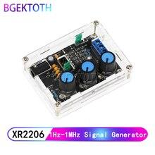 Функция генератор сигналов DIY Kit синус/треугольник/квадратный выход 1 Гц-1 МГц генератор сигналов Регулируемая частота черный XR2206