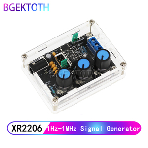 Function Signal Generator DIY Kit Sine/Triangle/Square Output 1Hz-1MHz Signal Generator Adjustable Frequency Black XR2206(China)