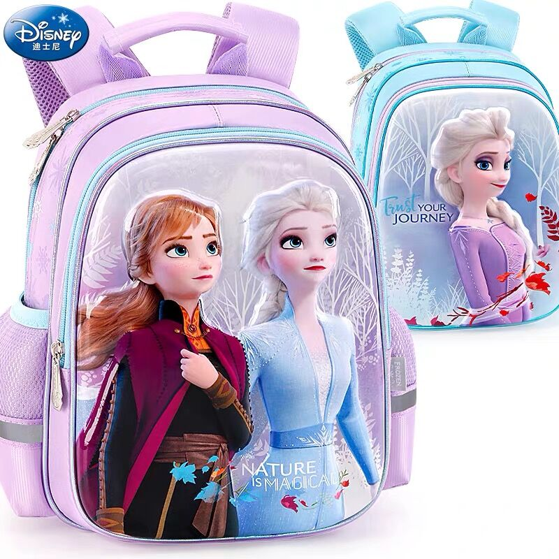 2020 NEW Genuine Disney Frozen 2 Elsa Anna Olaf Bag Kids Cartoon Backpacks Girls Breathable Primary School Bag Birthday Gift