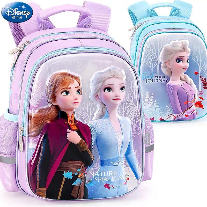 2020 NEW Genuine Disney Frozen 2 Elsa Anna Olaf Bag Kids Cartoon Backpacks Girls Breathable Primary School Bag Birthday Gift
