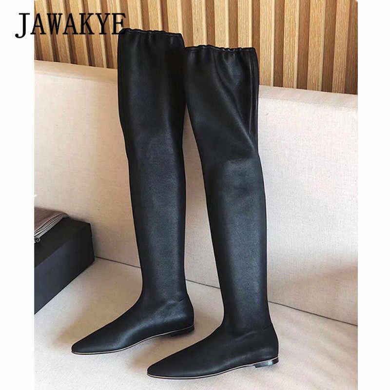 New Elastic Slim Design Long Sock Boots