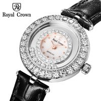 העברת קריסטל יוקרה קטן שעון גברת נשים של שעון אופנה שעות צמיד ריינסטון ילדה של יום הולדת מתנה רויאל קראון תיבה