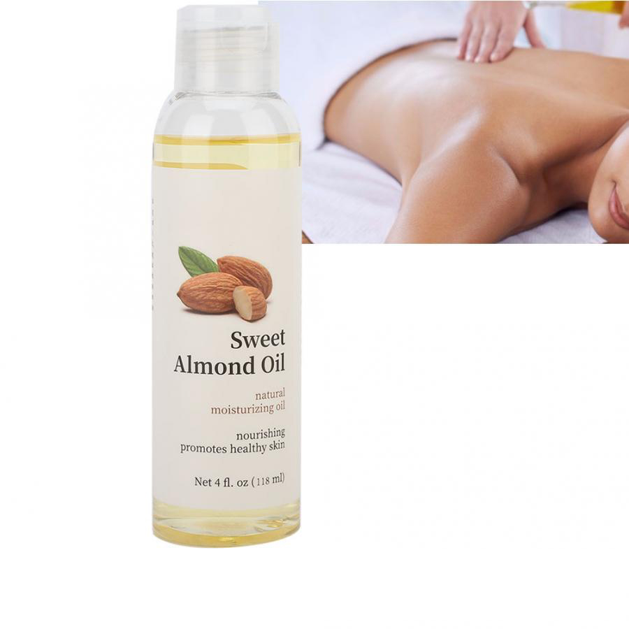 Sweet Almond Oil Moisturizing Foundation Oil Body Massage Oil Desalination Stretch Mark Oil 118ml Essential Oil