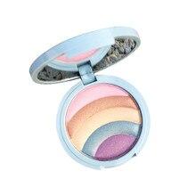 1Pc Einhorn Fünf-Farbe Regenbogen Hohe Licht Trimmen Lidschatten Kompakten Mode Lidschatten Make-Up Palette Kosmetik für Anfänger