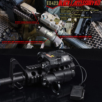 LA-PEQ15 레이저 손전등 M3X 전술 블록 액세서리 키트 I-스타일 II 전투 레이저 표시기 와이어 스위치 손전등 세트 WEX423