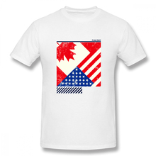 Flag Day Merica Independence Day Canada Casual O-Neck Men's Basic Short Sleeve T-Shirt 100% Cotton Tee Shirt Printed