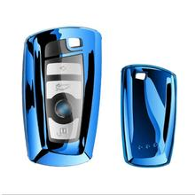 Car-Styling Auto TPU Key Cover Shell Case For Bmw New 1 3 4 5 6 7 Series F10 F20 F30 Smart 3 Buttons Accessories rock vision series case for iphone 7 4 7 carbon fiber texture tpu pc mobile shell gold
