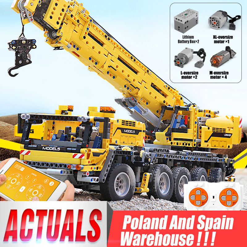 Technic compatible <font><b>42009</b></font> Motor Power Mobile hoist Crane Mk II Car Model Building Blocks Bricks 20004 Toy Christmas gift image