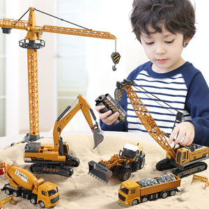 Alloy Engineering Car Truck Toys for Boys Xmas Birthday Gifts Bulldozer Excavator Forklift Vehicles Kids Education Toys Juguetes
