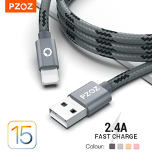 PZOZ Usb Cable For iphone cable 11 12 13 pro max Xs Xr X SE 8 7 6 plus 6s 5 ipad air mini fast charging cable For iphone charger