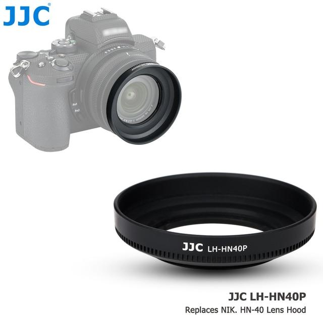JJC ABS pare soleil à visser pour appareil photo Nikon Z50 + objectif Nikkor Z DX 16 50 F/3.5 6.3 VR remplacer Nikon HN 40 protecteur dombre dobjectif