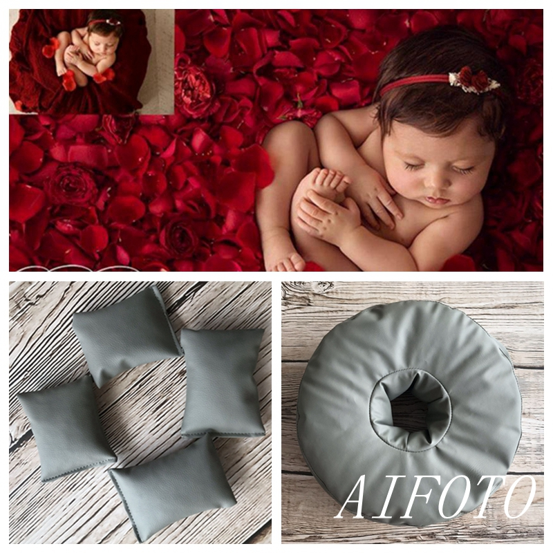Almighty Trumpet Newborn Photography Props Framed Bean Bag Background Stand Baby Bags Photo Shooting Studio Fotografia Accessory