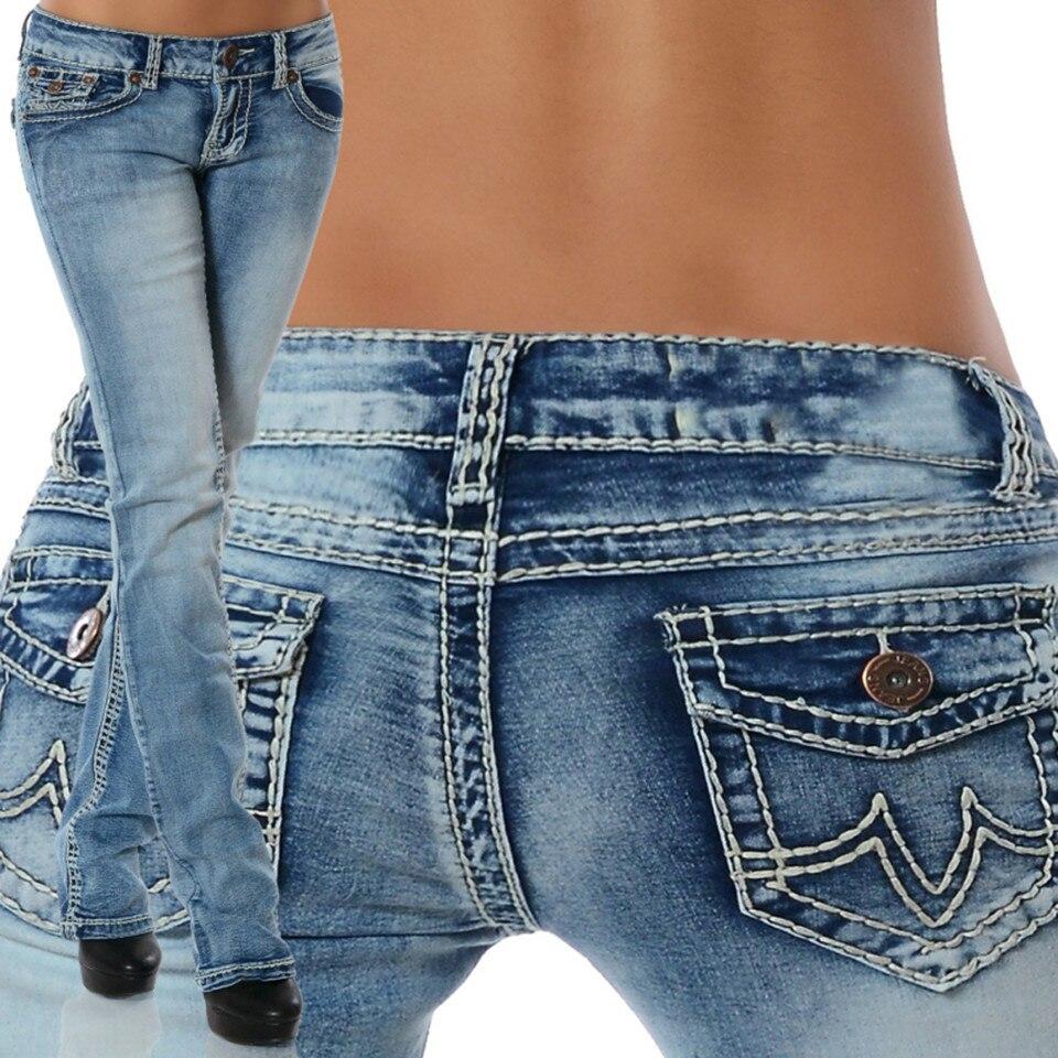 Plus Size Jeans Woman Blue Midi Waist Straight Denim Mom Jeans Female Elastic Pencil Jean Pants For Women Fall 2019 Trousers