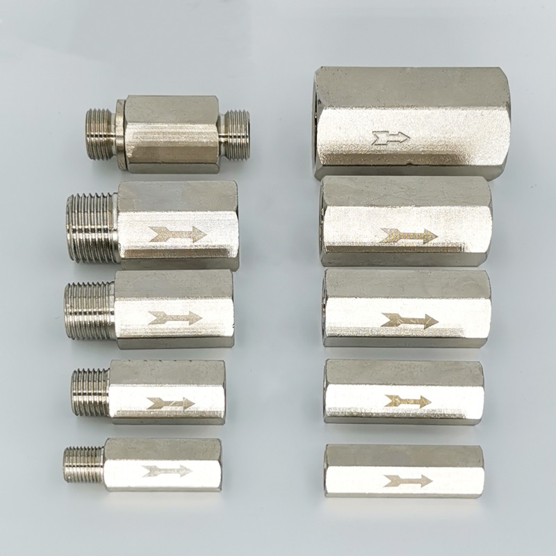 Brass Pneumatic One Way Check Valve Non-Return Valve Pipe Tube Fittings for Air Compressor