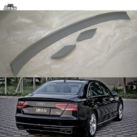 ABT style fiber glass rear roof spoiler lip For Audi A8 Quattor A4 D4 Decoration Sport styling FRP primer back wing 3pcs