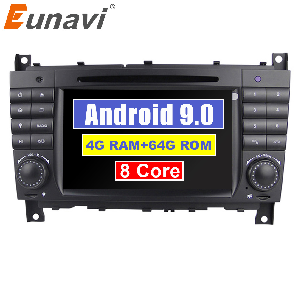 Eunavi 8 ядер 2 Din Android 9 автомобильный радиоприемник dvd-проигрыватель с gps для Mercedes Benz/W203 W209 W219 W169 A160 C180 C200 C230 C240 CLK200 CLK22 DSP