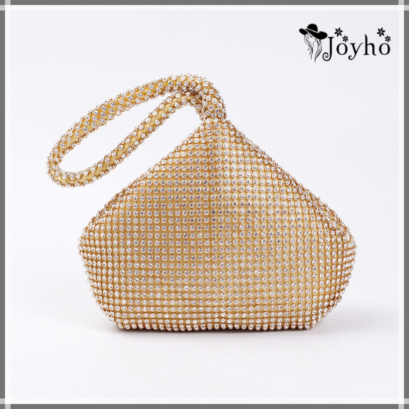 4 Colors Soft Beaded Women Evening Bag Cover Open Style Lady Wedding Triangle Glitter Handbag Purse Bag For New Year Gift Clutch title=