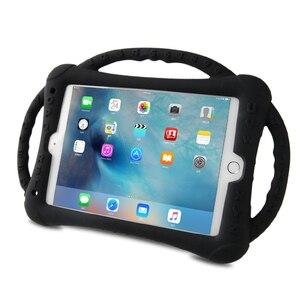 Image 5 - Do iPada 10.2 2019 2020 etui silikonowe, odporne na wstrząsy dzieci nietoksyczne etui z podstawką dla dzieci do iPada 7th 8th Generation Kickstand Shell