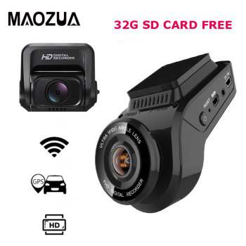Car Dash Cam 2160P 4K Ultra HD with 1080P Rear Camera WiFi GPS Logger ADAS Dual Lens Dashcam Car DVR Night Vision +32G SD Card