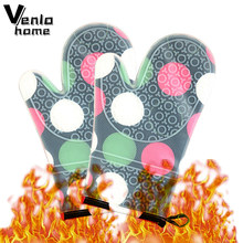 Venlohome 1 Paar Hittebestendige Verdikking Koken Gereedschap Magnetron Handschoenen Antislip Ovenwanten Siliconen Keuken Accessoires