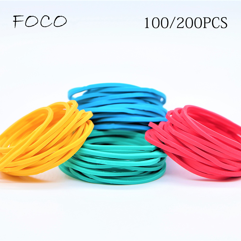 200PCS/Pack Colorful Nature Rubber Bands 38 Mm School Office Home Industrial Rubber Band Fashion Stationery Package Holders