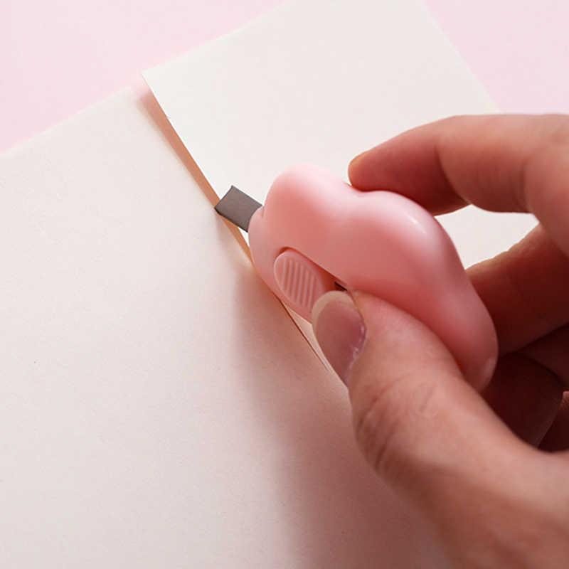 Cute Awan Warna Mini Portable Pisau Pemotong Kertas Memotong Kertas Razor Pisau Alat Tulis Kantor Cutting Perlengkapan