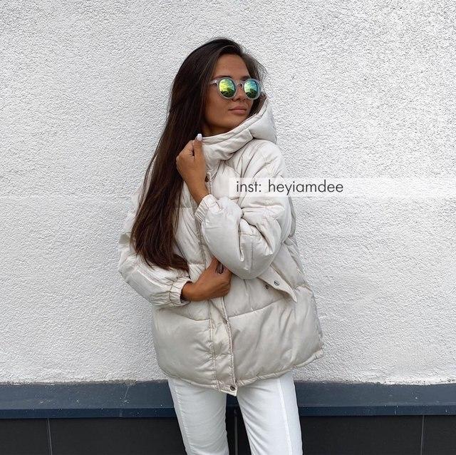2021 New Short Winter Jacket Women Oversize Parka Coat Warm Thick Cotton Coat Loose Hooded Padded Women Winter Jacket 2