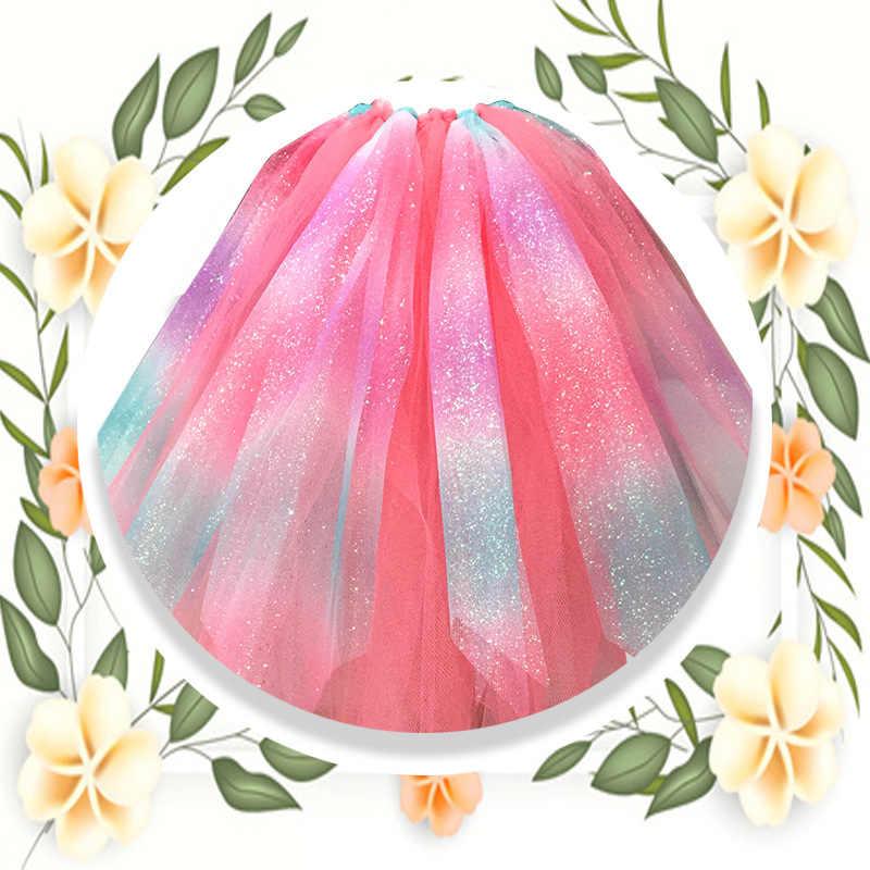Rollos de tul con purpurina arcoíris para camino de mesa silla faja arco falda de Tutu de boda regalo de fiesta cinta unicornio Decoración de cumpleaños