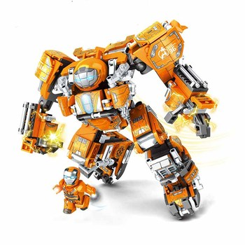 610pcs Super Heroes Figures Iron Man MK36 Building Bricks Toys for children B635 dr tong 2017 new super heroes iron man mk36 armor mark building blocks compatible with interlocking bricks for child toys