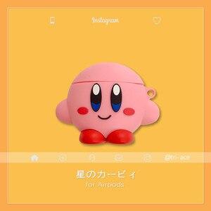 Image 1 - 3D Милые чехлы для наушников с японским мультяшным рисунком Kirby Star Alliance для Apple Airpods 1/2 силиконовый защитный чехол для наушников Аксессуары