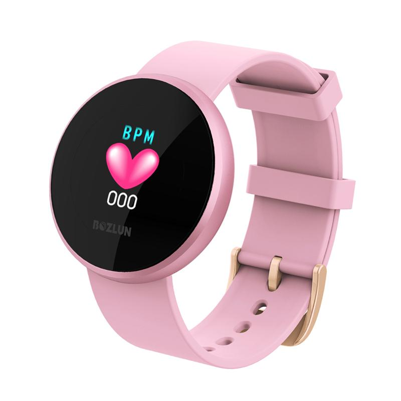 Fashion Women Smart Digital Watch Female Period Reminder HeartRate Waterproof Watches Colories Step Beauty Wristwatch B36