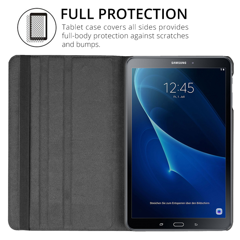 360 Rotating Case for Samsung Galaxy Tab A 10.1 2019 T510 SM-T515 S5E 10.5 T720 T590 T580 T560 T290 S6 Lite 10.4 P610 Case Cover-5