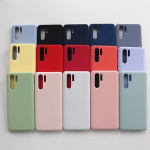 Image 1 - TD5088 silikon kılıf için Huawei P30 saf renk koruyucu kılıflar