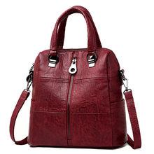 Multifunction Women Leather Backpacks Female Shoulder Bag Sac a Dos Ladies Bagpack Mochilas School Bags For Teenage Girls Preppy