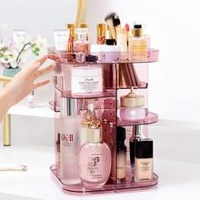Clear Acrylic Makeup Organizer CC Cream Storage Box organizador maquillaje Plastic Cosmetic Holder Cabinet Powder Display Box