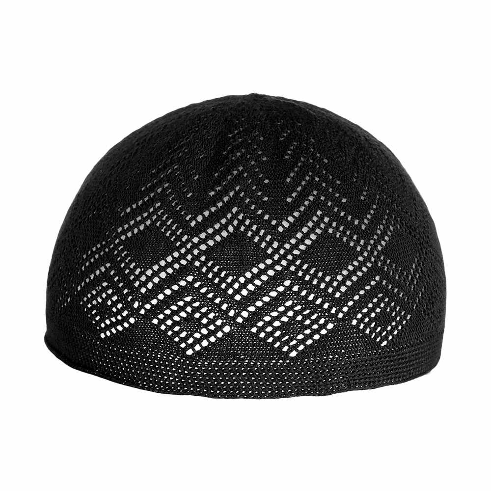 ใหม่แฟชั่นมุสลิมผู้ชายสวดมนต์หมวก Beanie ตุรกีตุรกีถักหมวกอิสลามหมวก Headscarf เสื้อผ้าอาหรับโครเชต์หมวกอิสลาม