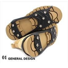 25 #8 szpilki antypoślizgowe kolce do butów Crampon antypoślizgowe na buty antypoślizgowe uchwyty trakcyjne knagi kolce raki ramponi Ice Gripper tanie tanio MUQGEW CN (pochodzenie) Silicone