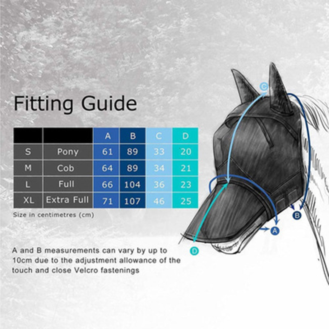 Outdoor Horse Fly Mask Hood Full Face Mesh Fleece Padded Anti-UV Breathable Unique Design Durability And No Rubbing