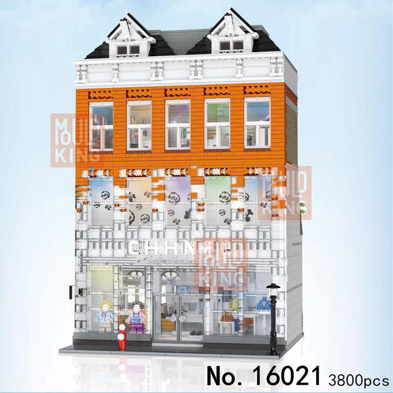 MOC city Creator Crystal House Street View Model Building Blocks Bricks Education compatible friend BUILDINGS Toys