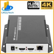 UHD 4K IPTV видео кодировщик HDMI RTSP кодировщик HD H.264 UDP мультикаст Unitcast кодировщик H264 для Wowza сервера Youtube Facebook Live