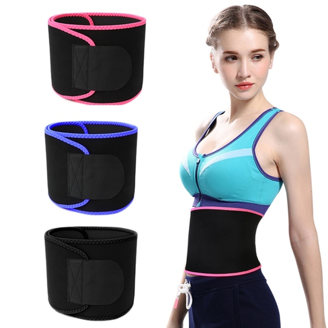Waist Trimmer Belt Weight Loss Sweat Band Wrap Fat Tummy Belt Sport Safe Stomach Sauna Sweat Accessories 2020