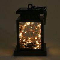 Solar powered led luz corda mesa lanterna pendurado lâmpada do gramado para jardim ao ar livre e65b|Fios de iluminação| |  -