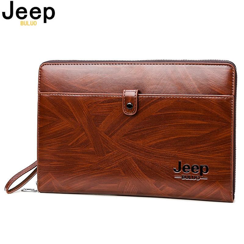 Bolsa de Embreagem Bolsa para Homem Jeep Buluo Homens Grande Capacidade Carteiras Telefone Passcard Bolso Multifuncional Alta Qualidade Chefe